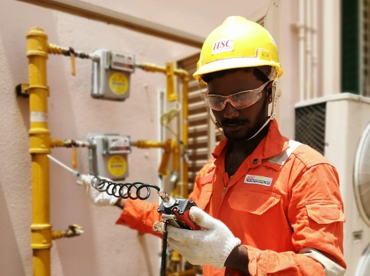 燃气管道检查和维修