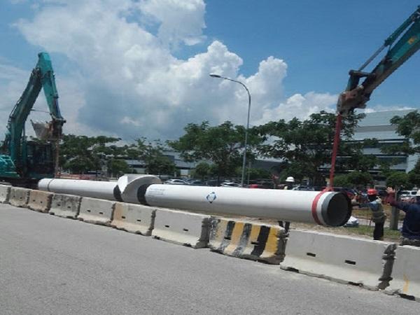 輸水至新加坡各地工商住宅區的水務管道